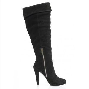 Michael Kors Shoes - Michael Kors Adena Black Suede boots